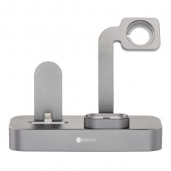 پایه شارژ کوتتسی مدل Base 19 3in 1 مناسب برای اپل واچ و آیفون و ایرپاد (نقره ای)