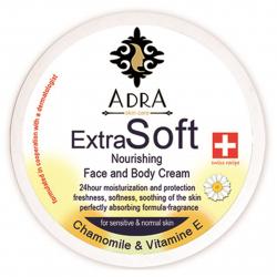 کرم مرطوب کننده و ترمیم کننده آدرا مدل Extra Soft حجم 200 میلی لیتر (سفید)