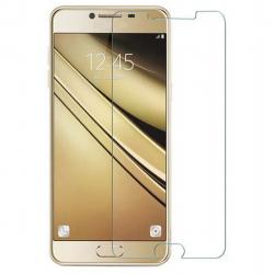 محافظ صفحه نمایش شیشه ای 9 اچ مناسب برای گوشی سامسونگ C5 (بی رنگ)