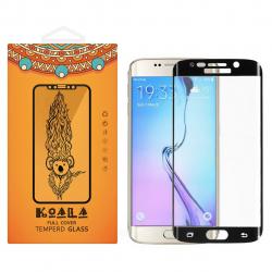 محافظ صفحه نمایش شیشه ای کوالا مدل Full Cover مناسب برای گوشی موبایل سامسونگ Galaxy S6 Edge Plus (مشکی)