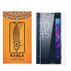 محافظ صفحه نمایش شیشه ای کوالا مدل Full Cover مناسب برای گوشی موبایل سونی Xperia X (طلایی)