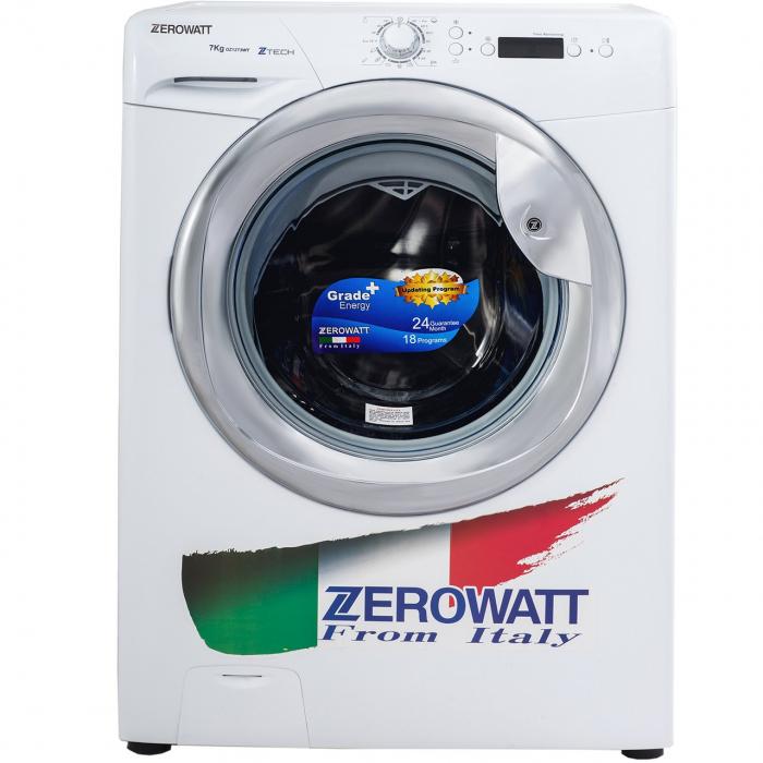 ماشین لباسشویی زیرووات مدل OZ-1273WT ظرفیت 7 کیلوگرم