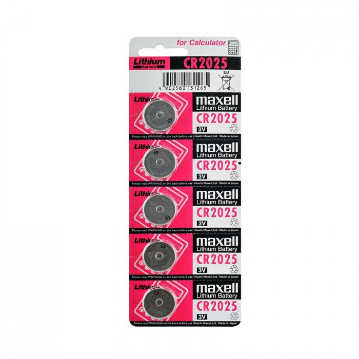 باتری سکه ای مکسل مدل CR2025 پنج عددی