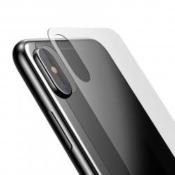 محافظ پشت گوشی شیشه ای بیسوس مدل BM01 مناسب برای گوشی موبایل اپل آیفون X (مشکی)