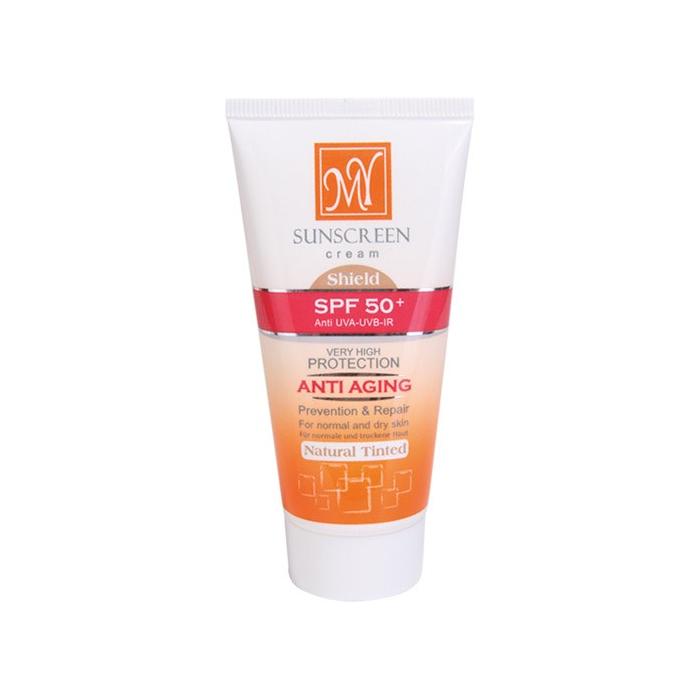 کرم ضد آفتاب رنگی و ضد چروک شیلد +مای SPF50 بژ روشن
