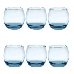 لیوان سیسپر مدل Copos De Vidro02 345ml بسته 6 عددی (آبی)
