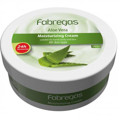 کرم مرطوب کننده فابریگاس مدل Aloevera حجم 200 میلی لیتر (سبز)
