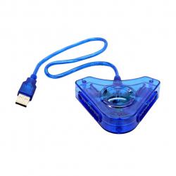تبدیل دسته بازی پلی استیشن 2 به کامپیوتر مدل 01 (آبی)
