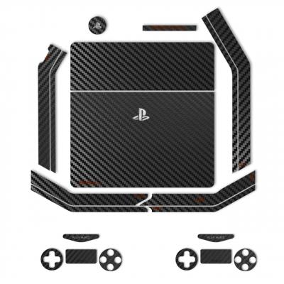 برچسب ماهوت مدلBlack Carbon-fiber Texture مناسب برای کنسول بازی PS4 Slim (مشکی)