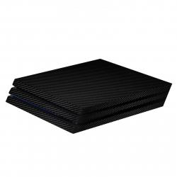 برچسب ماهوت مدلBlack Carbon-fiber Texture مناسب برای کنسول بازی PS4 Pro