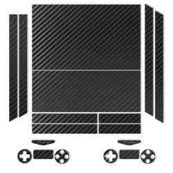 برچسب ماهوت مدلBlack Carbon-fiber Texture مناسب برای کنسول بازی PS4
