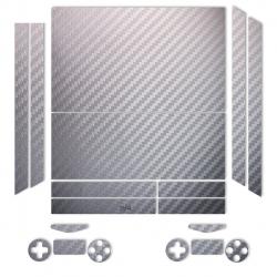 برچسب ماهوت مدلSilver Carbon-fiber Texture مناسب برای کنسول بازی PS4