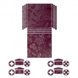 برچسب ماهوت مدلRed Wild-flower Texture مناسب برای کنسول بازیPS4 Pro (زرشکی)