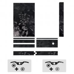برچسب ماهوت مدل Black Wild-flower Texture  مناسب برای کنسول بازی Xbox One (مشکی)