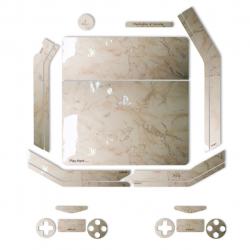 برچسب ماهوت مدل Almond-Marble Special   مناسب برای کنسول بازی PS4 Slim (کرم)