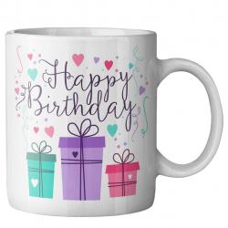 ماگ ماگستان مدل تولد مبارک جعبه کادویی (سفید)
