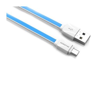 کابل micro USB کینگ استار مدل KS07A(سفید - آبی)