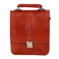 کیف اداری چرم طبیعی زانکو چرم مدل KM-502 (قهوه ای)