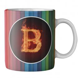 ماگ ماگستان مدل مدادرنگی حرف b (چند رنگ)