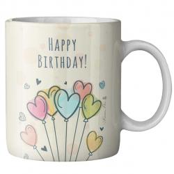 ماگ ماگستان مدل تولدمبارک قلبی (چند رنگ)