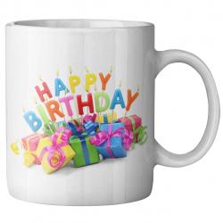 ماگ ماگستان مدل تولدمبارک کادویی (سفید)