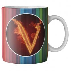 ماگ ماگستان مدل مدادرنگی حرف v (چند رنگ)