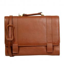 کیف اداری چرم طبیعی زانکو چرم مدل 102 (قهوه ای روشن)