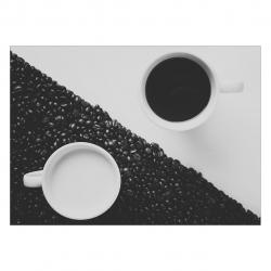 تابلو شاسی ونسونی طرح Night Day Coffee  سایز 30x40 سانتی متر