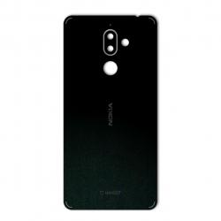 برچسب تزئینی ماهوت مدل Black-suede Special مناسب برای گوشی  Nokia 7 Plus