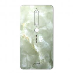 برچسب تزئینی ماهوت مدل Marble-light Special مناسب برای گوشی  Nokia 6/1 (کرم)