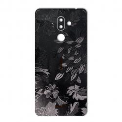 برچسب تزئینی ماهوت مدل Wild-flower Texture مناسب برای گوشی  Nokia 7 plus (زرشکی)