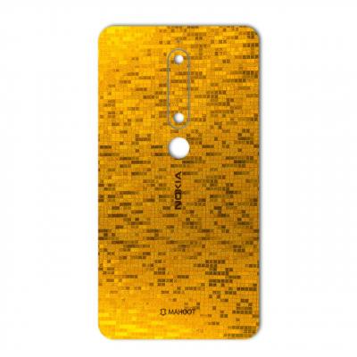 برچسب تزئینی ماهوت مدل  Gold-pixel Special مناسب برای گوشی Nokia 6/1 (چند رنگ)