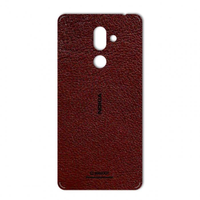 برچسب تزئینی ماهوت مدلNatural Leather مناسب برای گوشی  Nokia 7 Plus (قهوه ای تیره)