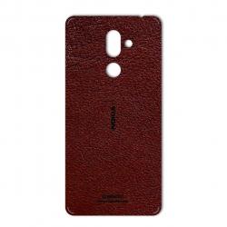 برچسب تزئینی ماهوت مدلNatural Leather مناسب برای گوشی  Nokia 7 Plus