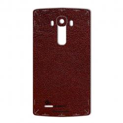 برچسب تزئینی ماهوت مدلNatural Leather مناسب برای گوشی  LG G4 (قرمز)