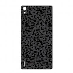 برچسب تزئینی ماهوت مدل Silicon Texture مناسب برای گوشی  Huawei Ascend P7 (مشکی)