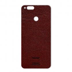 برچسب تزئینی ماهوت مدلNatural Leather مناسب برای گوشی  Huawei Honor 7X (قهوه ای تیره)