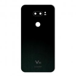 برچسب تزئینی ماهوت مدل Black-suede Special مناسب برای گوشی  LG V30 (بی رنگ)