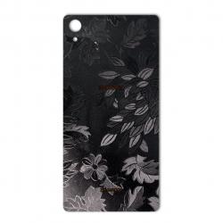 برچسب تزئینی ماهوت مدل Wild-flower Texture مناسب برای گوشی  Sony Xperia Z2 (زرشکی)