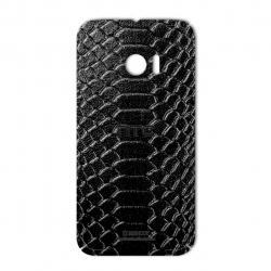 برچسب تزئینی ماهوت مدل Snake Leather مناسب برای گوشی  HTC 10 (قهوه ای)