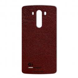 برچسب تزئینی ماهوت مدلNatural Leather مناسب برای گوشی  LG G3 (قهوه ای تیره)