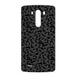 برچسب تزئینی ماهوت مدل Silicon Texture مناسب برای گوشی  LG G3 (نقره ای)