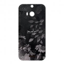 برچسب تزئینی ماهوت مدل Wild-flower Texture مناسب برای گوشی  HTC M8 (زرشکی)