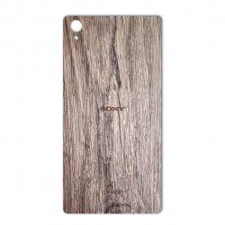 برچسب تزئینی ماهوت مدل Walnut Texture مناسب برای گوشی  Sony Xperia Z1 (بی رنگ)