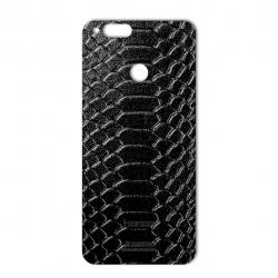 برچسب تزئینی ماهوت مدل Snake Leather مناسب برای گوشی  Huawei Honor 7X (قهوه ای)