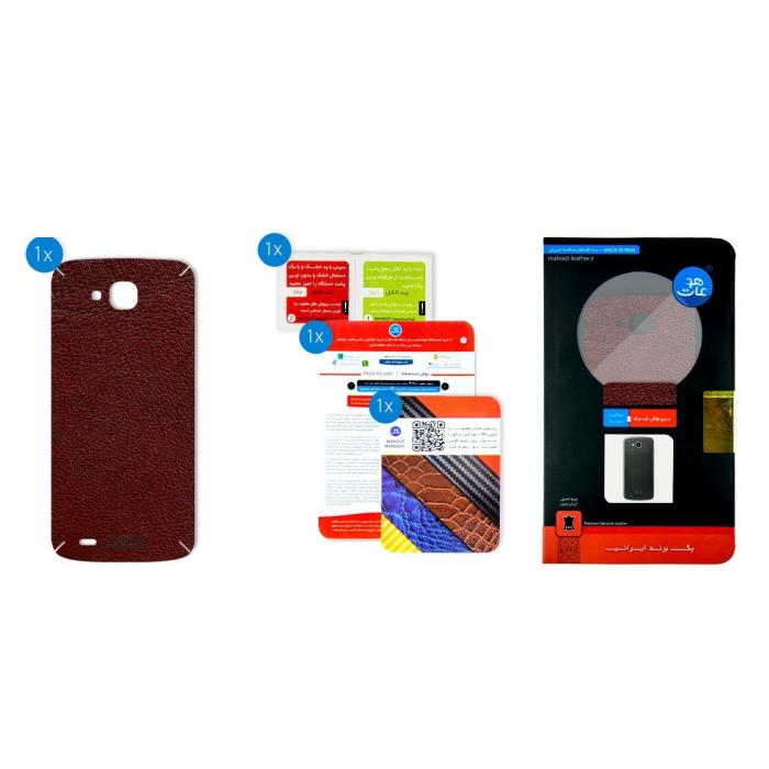 برچسب تزئینی ماهوت مدلNatural Leather مناسب برای گوشی  LG X Venture (قهوه ای)