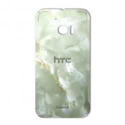 برچسب تزئینی ماهوت مدل Marble-light Special مناسب برای گوشی  HTC 10 (کرم)