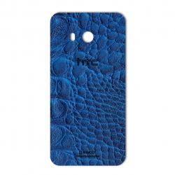 برچسب تزئینی ماهوت مدل Crocodile Leather مناسب برای گوشی  HTC U11 (آبی)