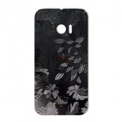 برچسب تزئینی ماهوت مدل Wild-flower Texture مناسب برای گوشی  HTC 10 (مشکی)