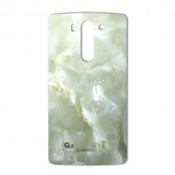 برچسب تزئینی ماهوت مدل Marble-light Special مناسب برای گوشی  LG G3 Beat (سبز روشن)